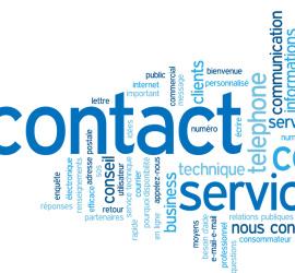 """Nuage de Tags """"CONTACT"""" (coordonnées service clients mots-clés)"""